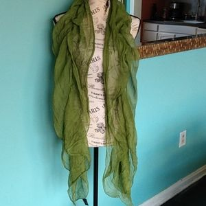 🇮🇹Italian Silk Ruched Lime Green 🍏 Scarf